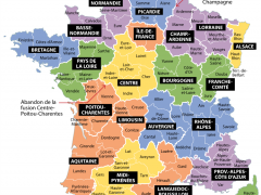 Nouvelle carte de France à 15 régions